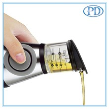 Press and Measure Olive Oil Glass Bottle