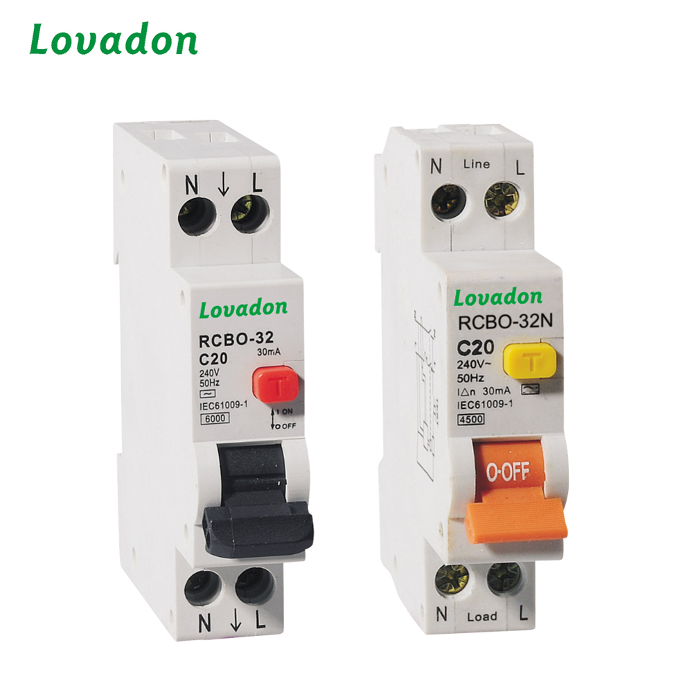 Cheap 20A RCBO-32N Residual Current device Circuit Breaker With Over Current Protection