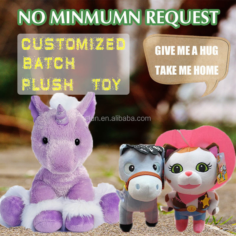 Soft Plush Cute Little Laying Horse Toy High Soft Stuffed Colorful Horse Customized
