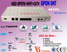 EXW Price !! Internet+Telephone+ CATV+WIFI GPON ONT FTTH Device with RF