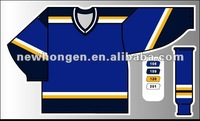 All Star Navy blank Ice Hockey Jersey