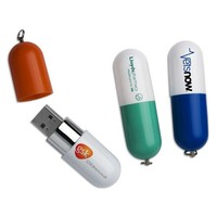 guest wedding gifts promotional pill-shaped usb flash drive 2gb