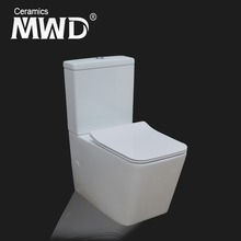 New Square pan Rimless design Two piece toilet watermarked for Australia A3981