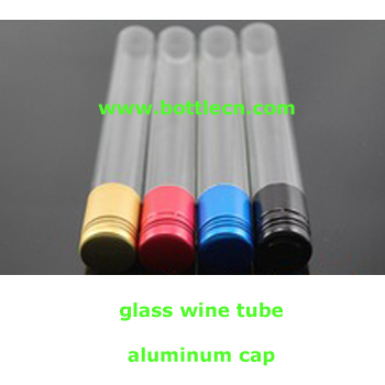 20ml 1oz glass wine test sample tubes with colorful aluminum cap