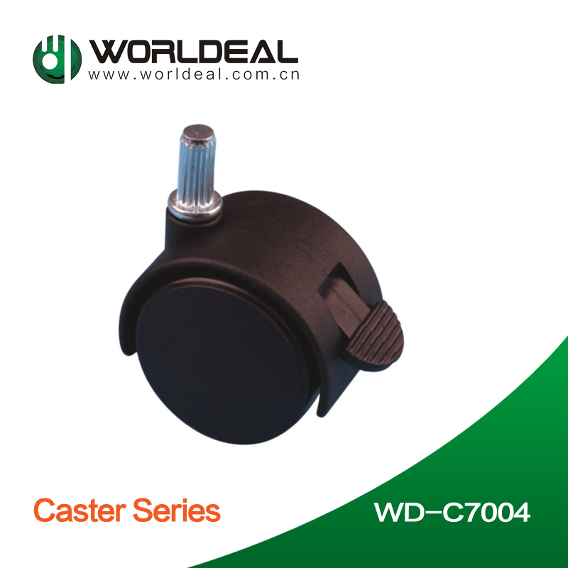 Black color Furniture casters apply for office chair screw caster
