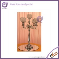 k4651 Candle Stand clear glass long stem candle holder