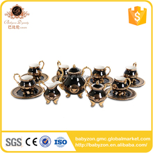 High Quality Tea Set Golden Coffee Set Cup And Saucer Set