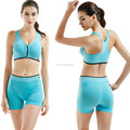 Ladies sexy top bra and short pant sport yoga wear set