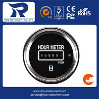 52mm water resistant Rico 6 to 50 v hourmeter for marine boat