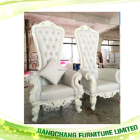 Hotel Decorative long Back White Leather Chair JC-K54