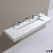 Commercial White Color Solid Surface Stone Resin Hand Bathroom Sink Wash Basin