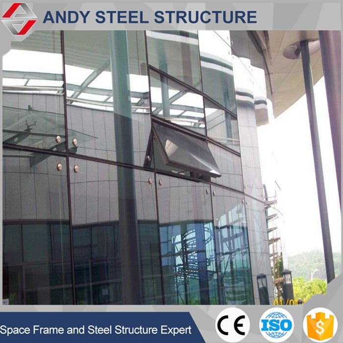 Double Clear Exposed Frame Cladding Glass Curtain Wall Price