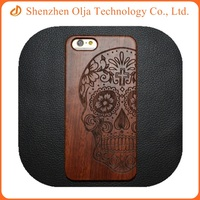2015 wood carving case for iphone 6s plus carved bamboo wood mobile phone wholesale