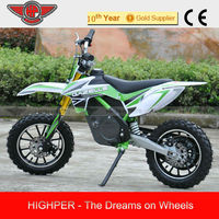 2014 Chinese 500W 24V Electric Mini Motorcycle Motorcross for kids