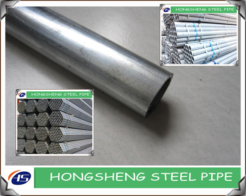 Zinc Galvanized Round Steel Pipe for building material