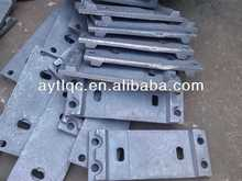iron base plate for rail fastening