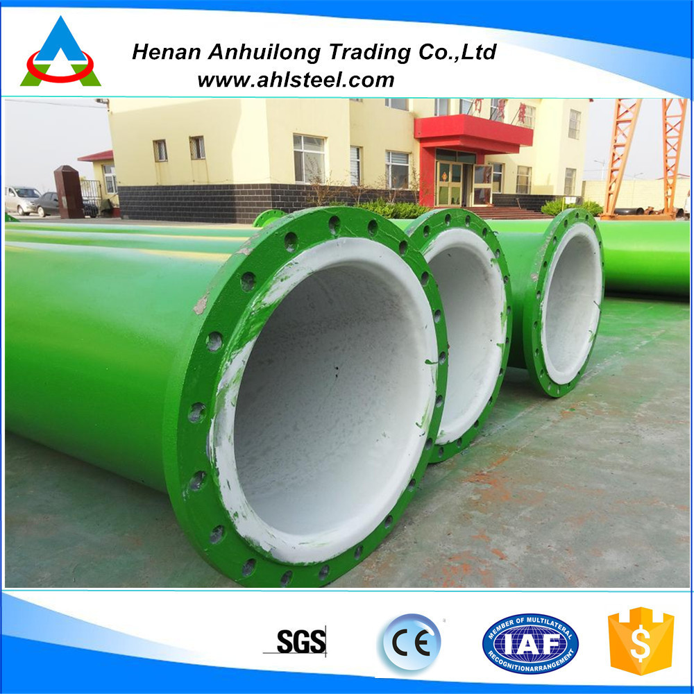 abrasion resistant ceramic lined pipe and elbow/wear-resistant steel pipes for conveying dinas