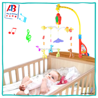 Developmental Baby Learning Cribs Toys Cot Musical Mobile For Toddlers