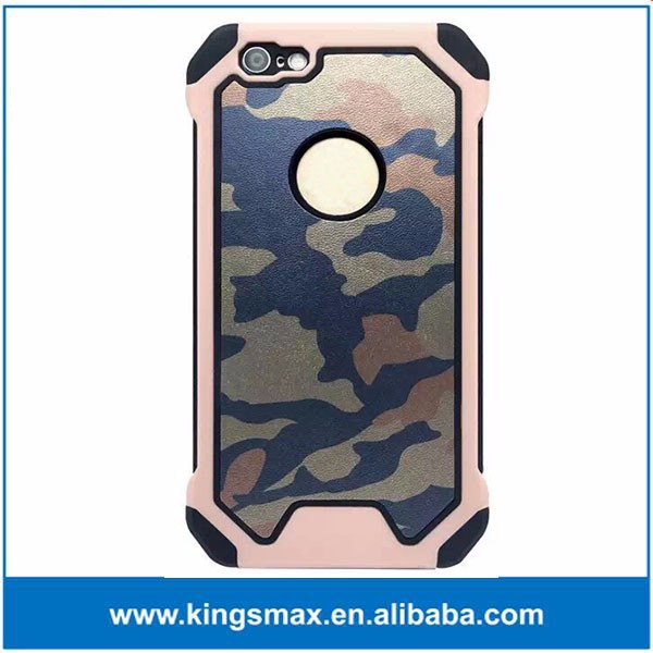 2 in 1 Yellow Camo Hybrid Cover for iPhone 6/6s Multi Army Color Phone Cover Case