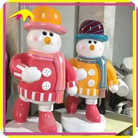 KANO7803 Zoo Decoration Attractive Life-Size Animated Large Snowman Statue