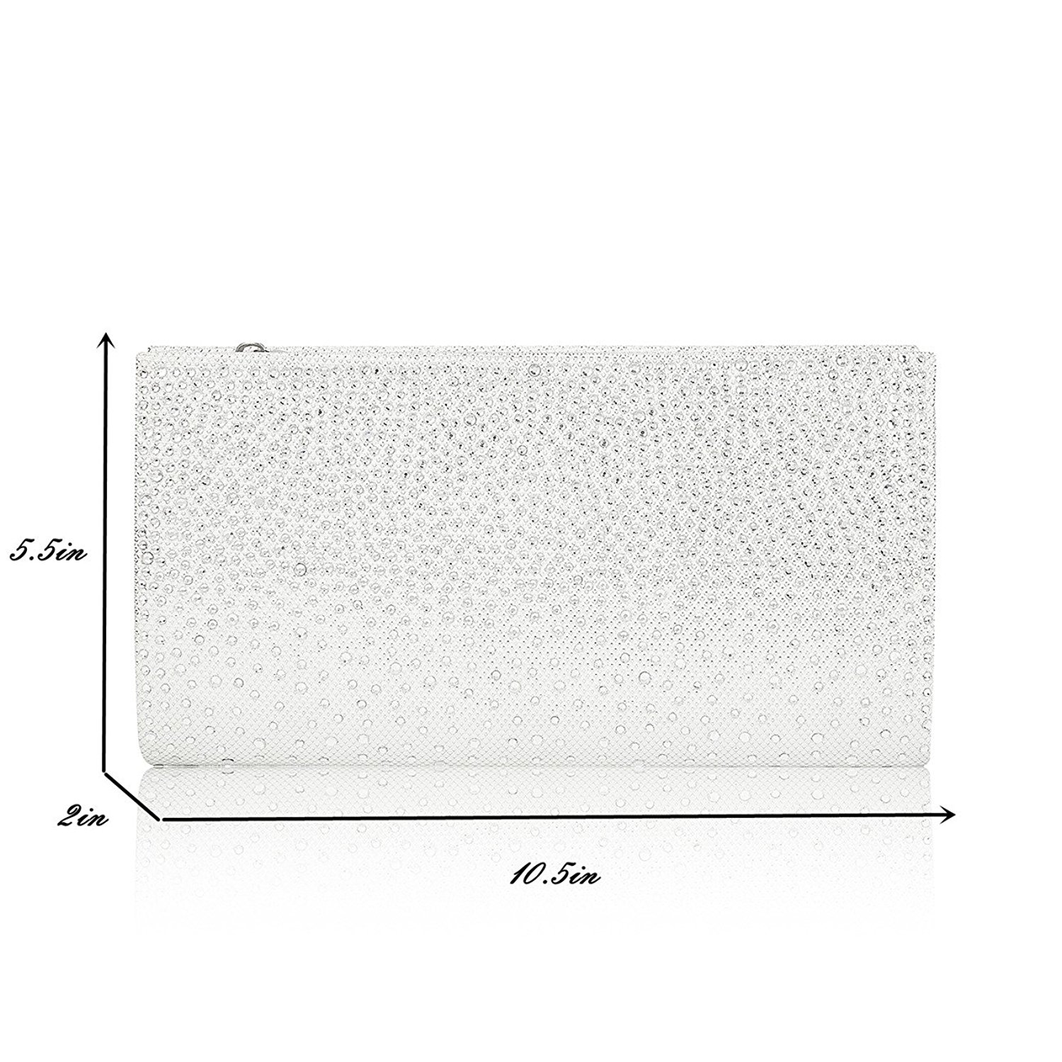 2018 OEM Ladies Women Silver Stone Formal Party Purses Clutch Bag Wedding Evening