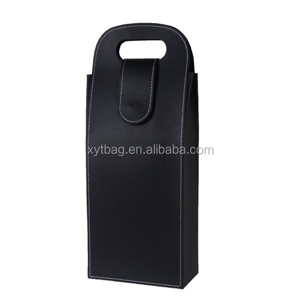 Exclusive Luxury PU Leather Wine Carrier For One Wine Bottle
