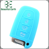 Eco-friendly Car Silicone Remote Key cover with bule Color for Hyundai