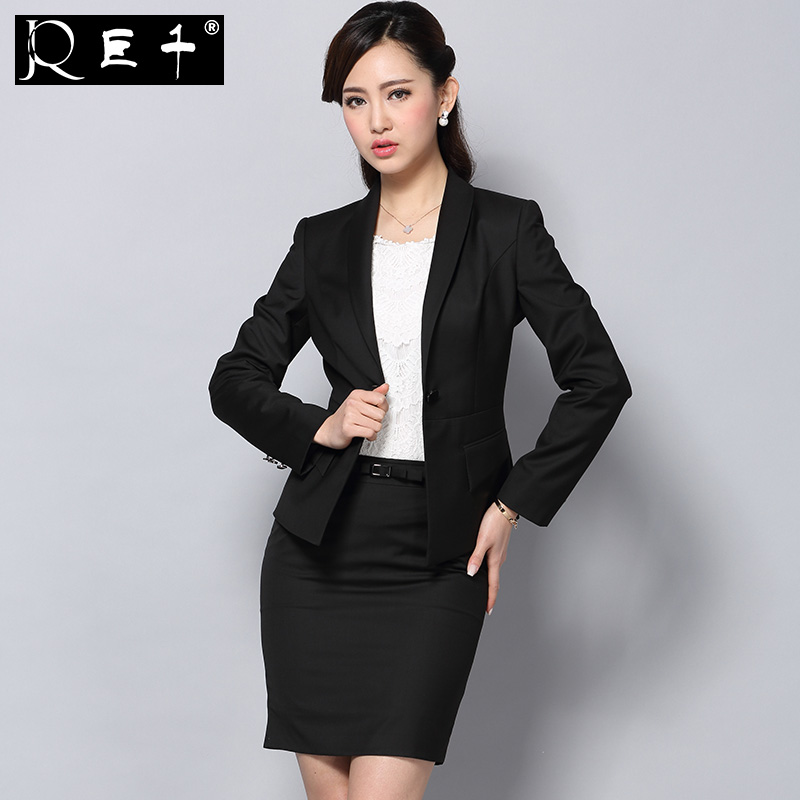 Women Office Black Skirts Suits Sexy Pictures of Design Ladies Skirt Suit