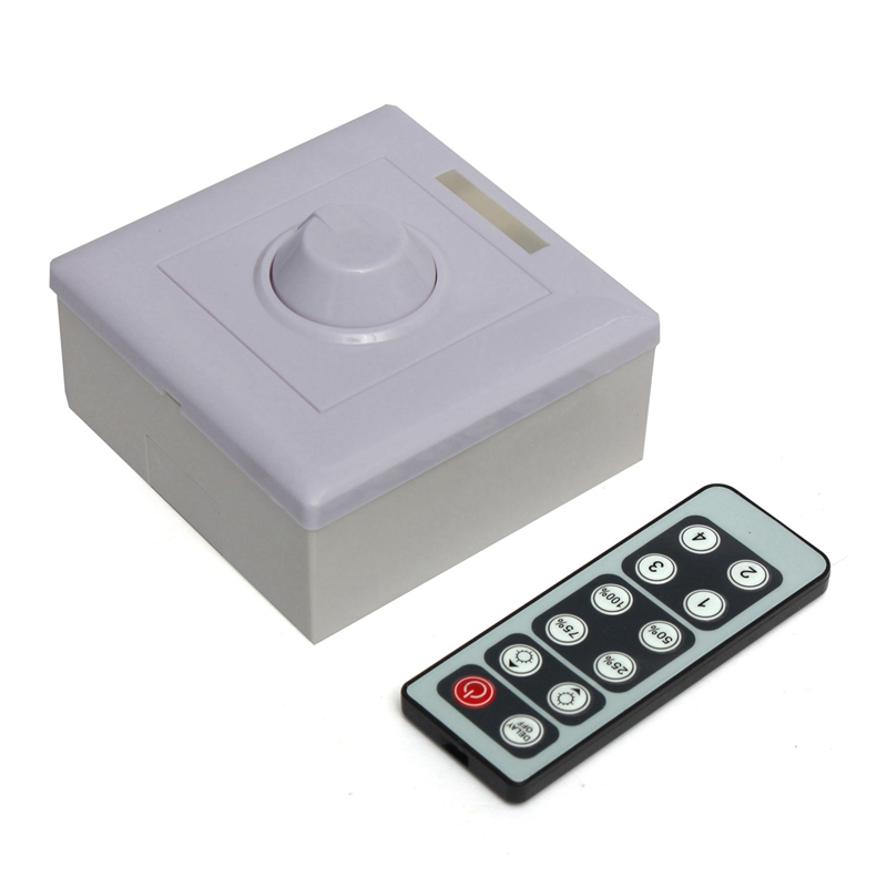 Infrared 12Key Triac Dimmer 12V Knob PWM 0-10V Triac LED switch dimmer