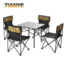 Tianye Beach BBQ Use Wholesale folding chairs and folding table set 5 picecs China