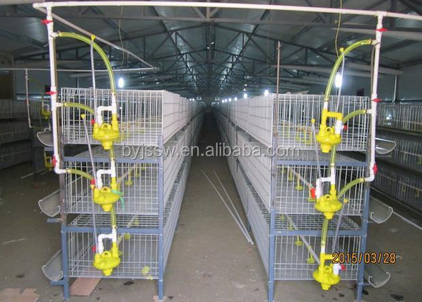 3 Tiers 96 Chicken Poultry Battery Cage For Chicken House