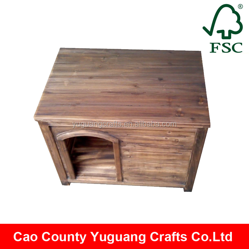 Yuguang Crafts Vintage Simple Small Wooden Cat House Design