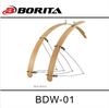 Borita Bike Wheel Fender BDW-01 bamboo /wood mudguards