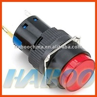 electrical illuminated 12v reset waterproof push button switch