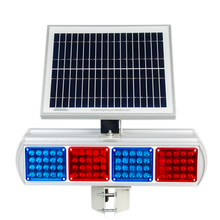 IP54 waterproof Road safety solar flashing led lights/led semaphore/ trafic light