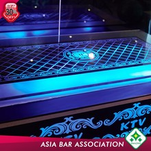 Illuminated Led Glass Glass Ktv Table Interactive Coffee Indoor High Top Bar Tables