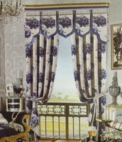 Luxurious American Canopy Bed Curtains with Swags and Tails