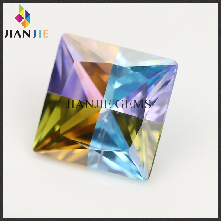 best selling aquamarine natural multicolor cz stone
