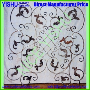 China Factory Supplier Garden Fence Decoration Cast Iron Grape Leaf