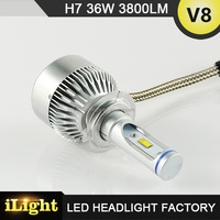 Factory CE ROHS Emark Approved 12V led car bulb H7 HID