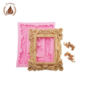Picture frame fondant silicone mold for fondant cake decorating fondant tools