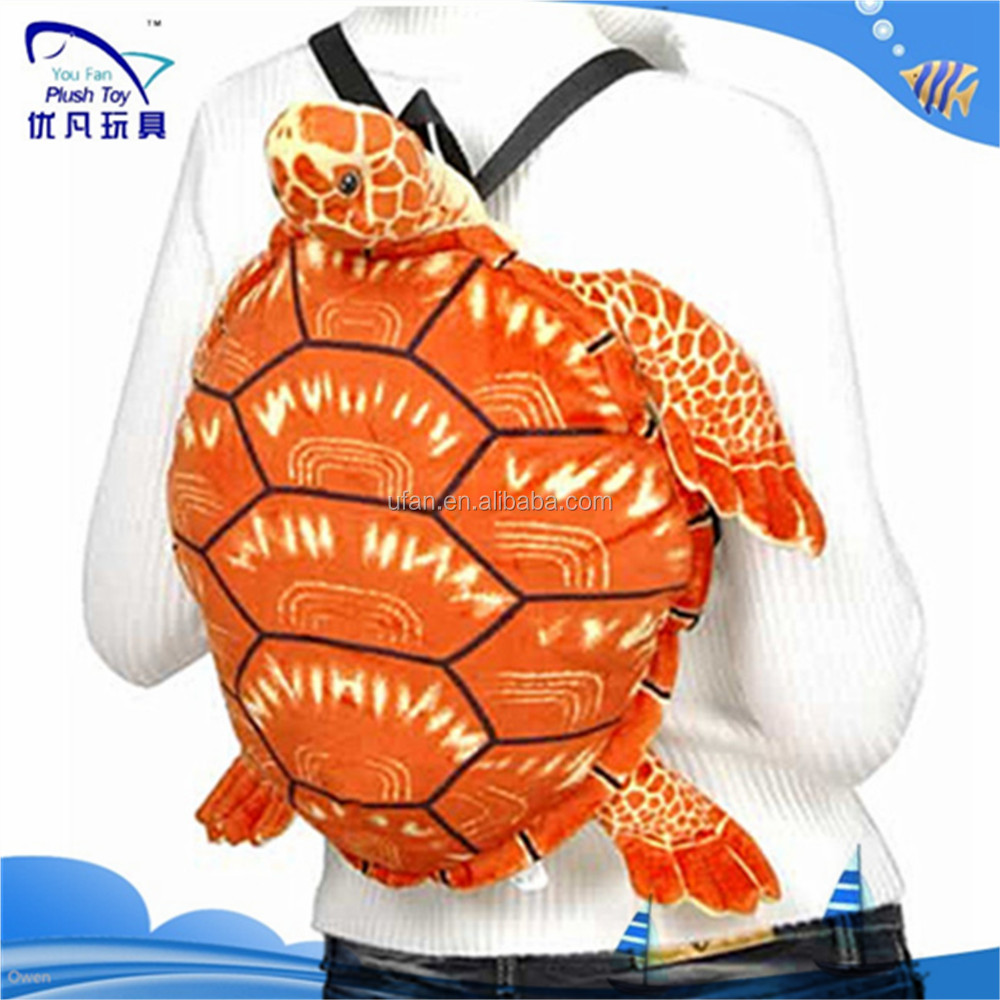 2015 custom 50cm lifelike Simulation turtle stuffed plush backpack for kids