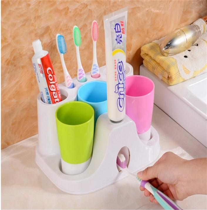 N167 2015 Automatic toothpaste dispenser toothbrush holder toothpaste tube squeezing toothpaste squeezer toothbrush holder lazy