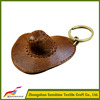 Western Cowgirl Leather Cowboy Hat Keychain