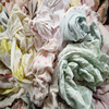 Used color Cotton fabric scraps cotton rags