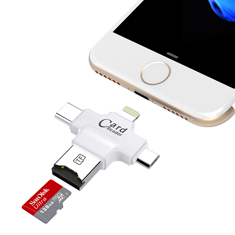 usb flash drive with micro usb sd card reader adapter