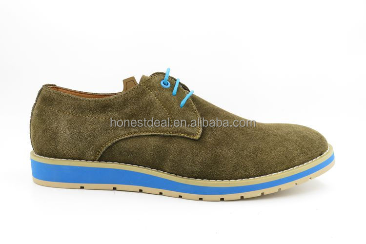 RS143-1 top men's casual shoe brands suede leather thick sole shoes