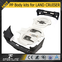 Auto Parts (Front and rear bumper FRP wheel arch flares) PP Body Kit for Toyota Land Cruiser LC200 570R 2012 2013 2014 2015
