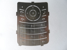 Customized metal hand phone keypad with color plated