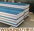 ISO panel/EPS /PU/Rock wool sandwich panel for steel structure
